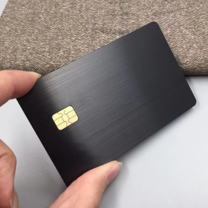 Metal credit contact chip metal stainless steel magnetic stripe card