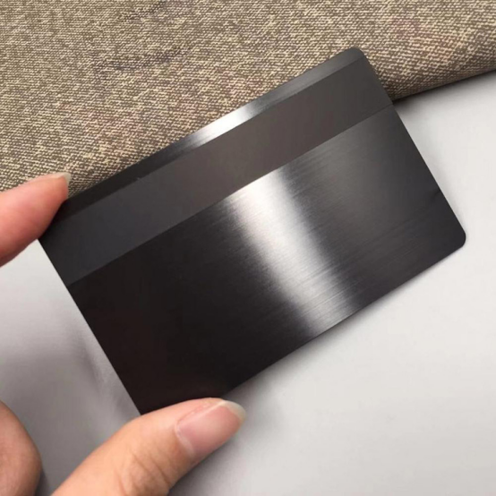 What is Brushed stainless steel card ?