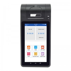 Desktop Android mobile 7 inch Tablet Pos Terminal with Integrated Printer