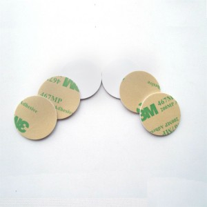 Blank RFID sticker on metal NFC coin Tag