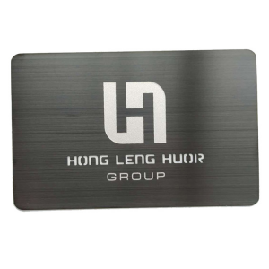 Customized stainless steel Brushed laser cut Silver Metal Business Card