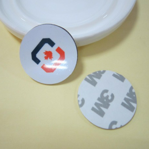 Round PVC RFID Coin Tag With Strong 3m Adhesive