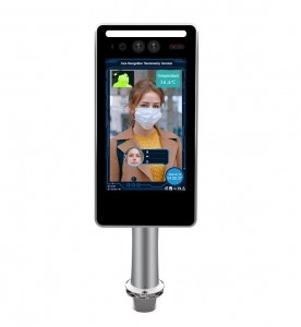Temperature Body Face Recognition Scanner Support Card Reader And Fever Alarm